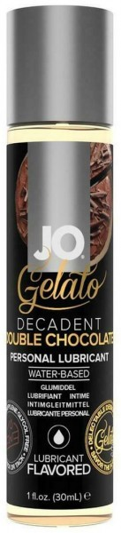 Лубрикант с ароматом шоколада JO GELATO DECADENT DOUBLE CHOCOLATE - 30 мл.