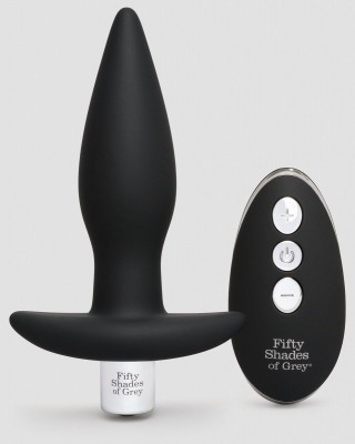 Черная вибровтулка Relentless Vibrations Remote Control Butt Plug - 11,4 см.