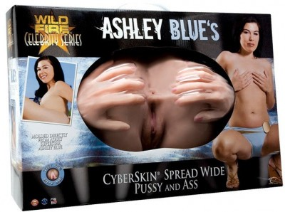 Полноразмерная вагина и анус Wildfire Celebrity Series Ashley Blues CyberSkin Spread Wide Pussy   Ass