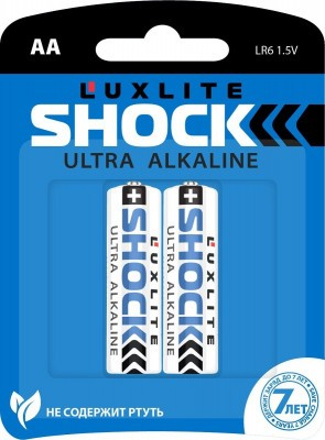 Батарейки Luxlite Shock (BLUE) типа АА - 2 шт.
