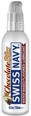 Лубрикант с ароматом шоколада Swiss Navy Chocolate Bliss Lube - 118 мл.